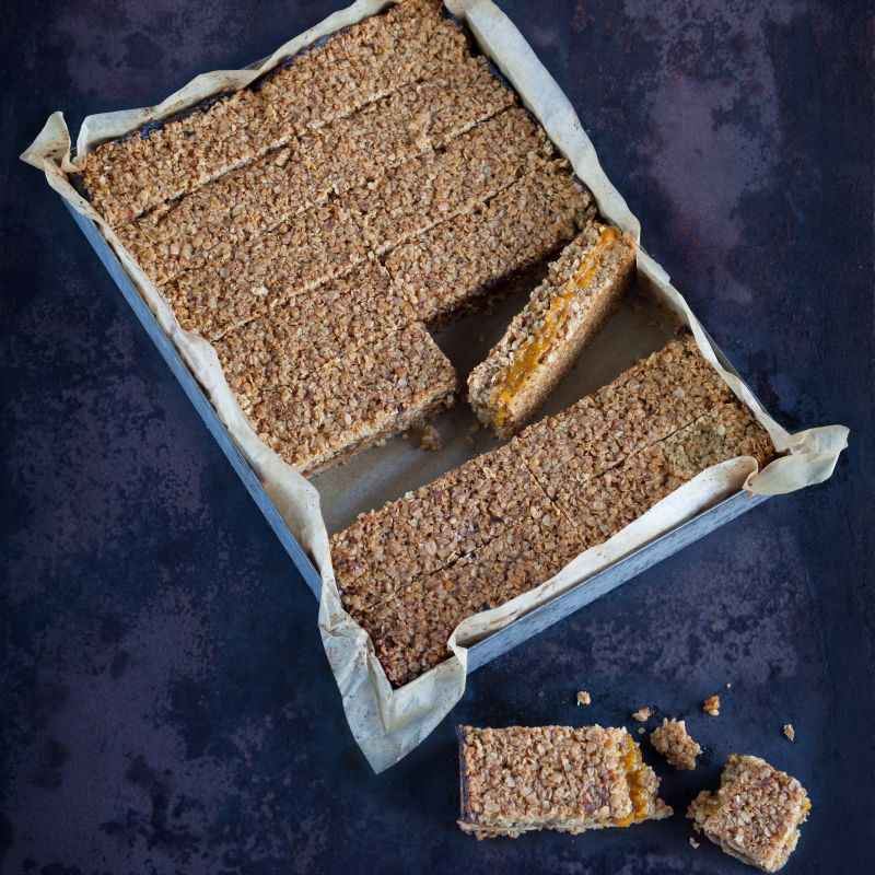 Peck & Strong Apricot Filled Flapjack